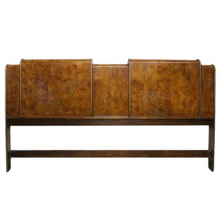 Burl Wood Deco Headboard