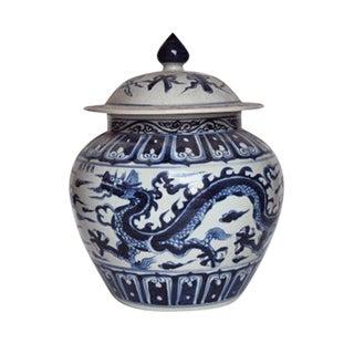 Ginger Jar With Dragon Motif