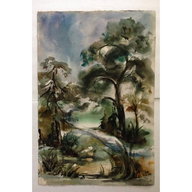 Edna Leventhal Kessler Watercolor - Image 3 of 5