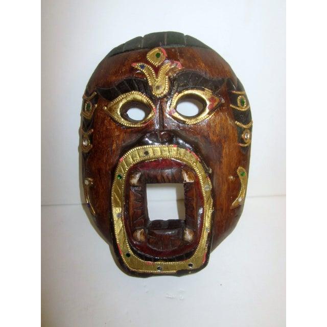 Decorative Carved Masks & Buddha Statue - Set of 3 - Image 4 of 8
