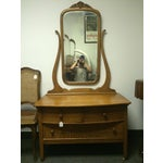 Image of Solid Oak Antique Dresser/Vanity