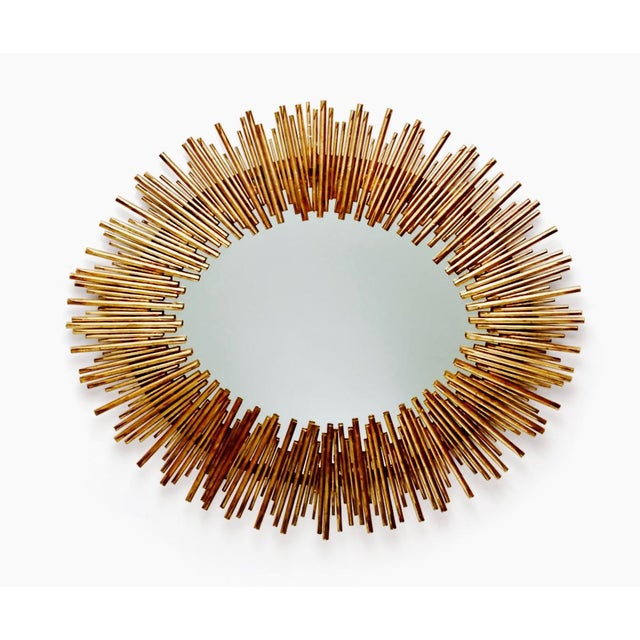 Arteriors prescott antiqued gold oval iron mirror chairish for Prescott mirror