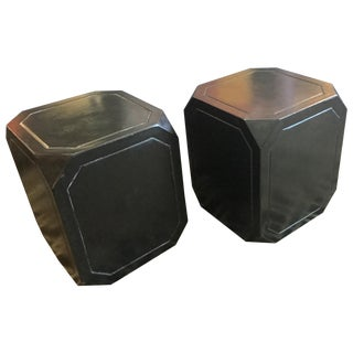 Octagonal Concrete Tables - A Pair