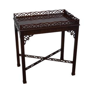 Heirloom by Drexel Chippendale Fretwork Tea Table