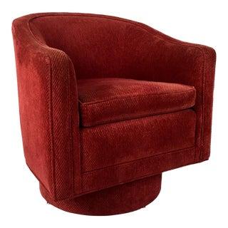 Barrel Swivel Chair by Milo Baughman