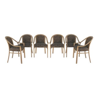 Lacquered Armchairs-Set of 6