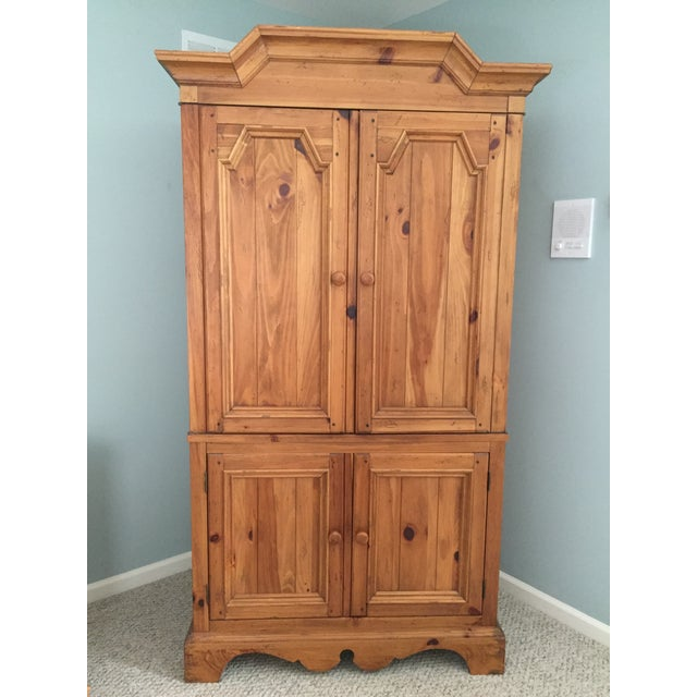 Ethan Allen Wooden Armoire - Image 8 of 10
