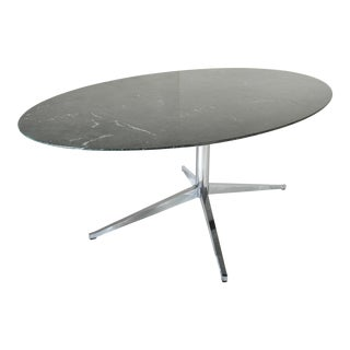 Florence Knoll Verde Marble Oval Dining Table