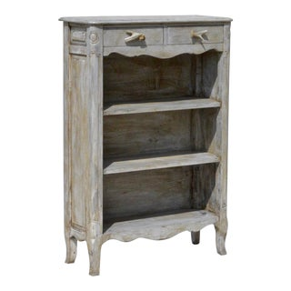 Painted French Country Bookcase With Antler Pulls