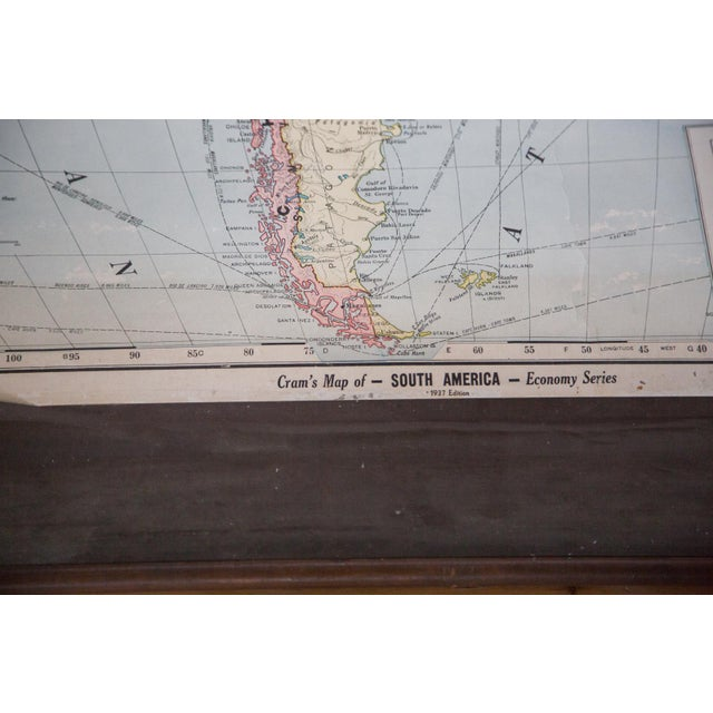 Vintage Cram's Pull Down Map of South America - Image 2 of 5
