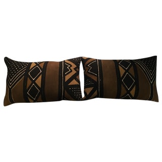 Vintage African Kuba Cloth Pillows - A Pair