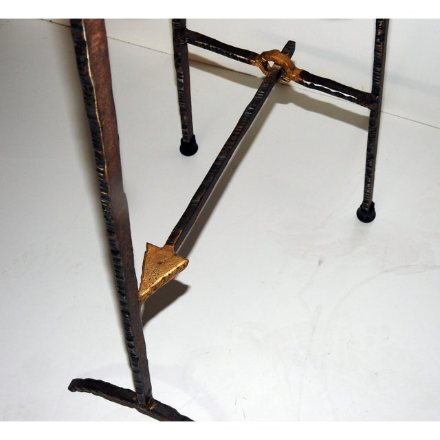 Image of Mid-Century Modern Giacometti Style Bar Stools - A Pair