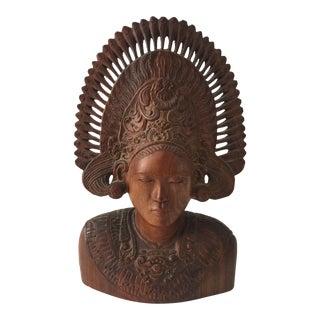 Wooden Carved Goddess
