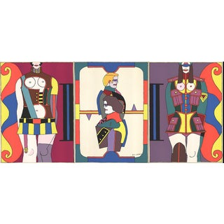 """Changing Sexuality (Triptych)"" by Richard Lindner"