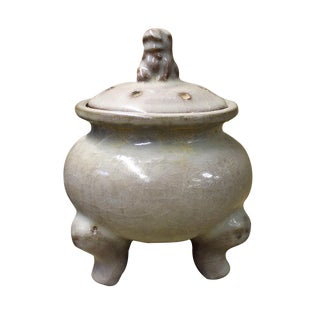 Ru Ware Celadon Lidded Incense Burner