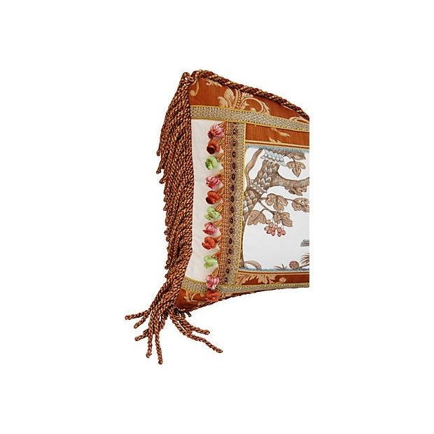 Custom Brunschwig & Fils Bird & Thistle Pillow - Image 4 of 6