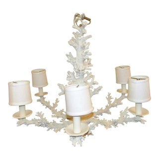 Faux Coral 6 Lamp Chandelier