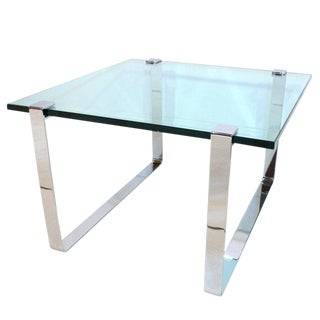 1960's Chrome and Glass Coffee Table