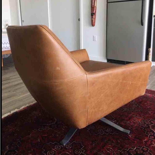 Mid Century Swivel Leather Chair - Image 3 of 3