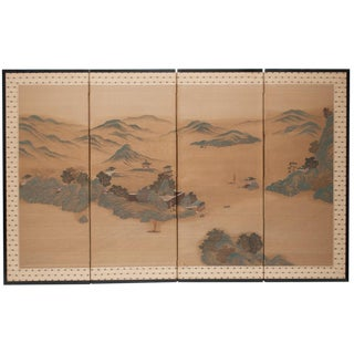 Japanese Byobu Screen, 1910-1940s
