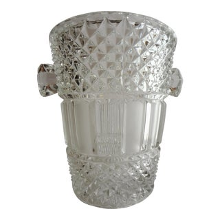 Crystal Cut Glass Champagne Bucket Canard Duchêne