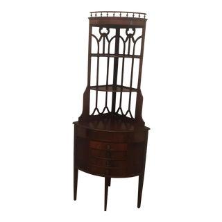 4-Drawer Wooden Corner Cabinet