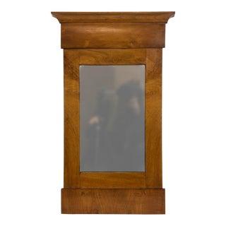 Antique Biedermeier Walnut Mirror