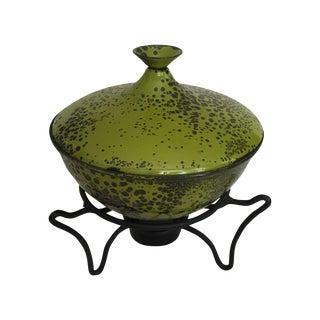 Hanova of Pasadena Fondue Pot with Stand