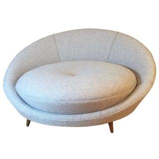 Milo Baughman Oversize Restored Love Lounge Chair