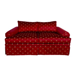 Red Bees Print Love Seat