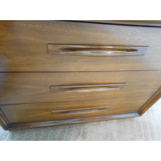 Mid Century Modern Walnut Bachelors Chests - Pair - Image 9 of 10
