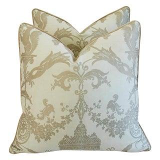 Designer Italian Fortuny Lamballe Pillows - Pair