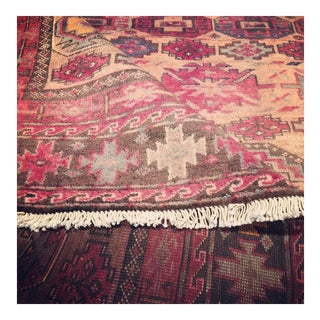 Pink Vintage Persian Baluch Rug with Modern Tribal Style, 6'6 x 9'7