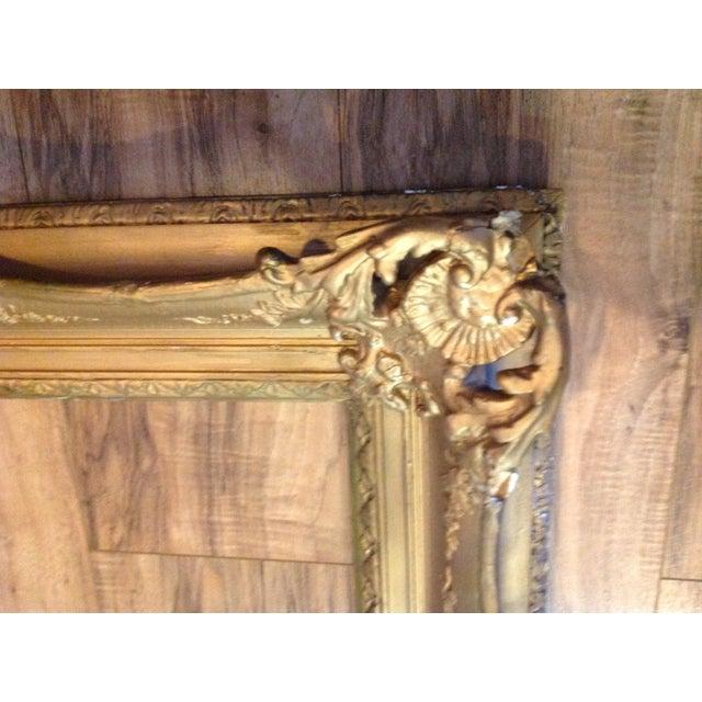 Antique Wood Hollywood Regency Large Frame Victorian - Image 3 of 11