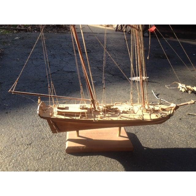 Wood Model Boat - Image 9 of 10