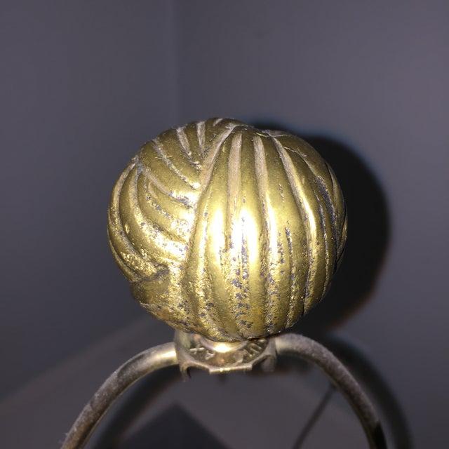 Dorothy Draper Style Chapman Brass Bow Swag Ceramic Lamp - Image 10 of 11