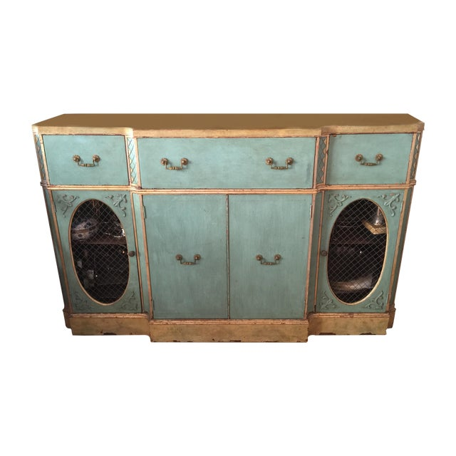 vintage shabby chic painted sideboard chairish. Black Bedroom Furniture Sets. Home Design Ideas