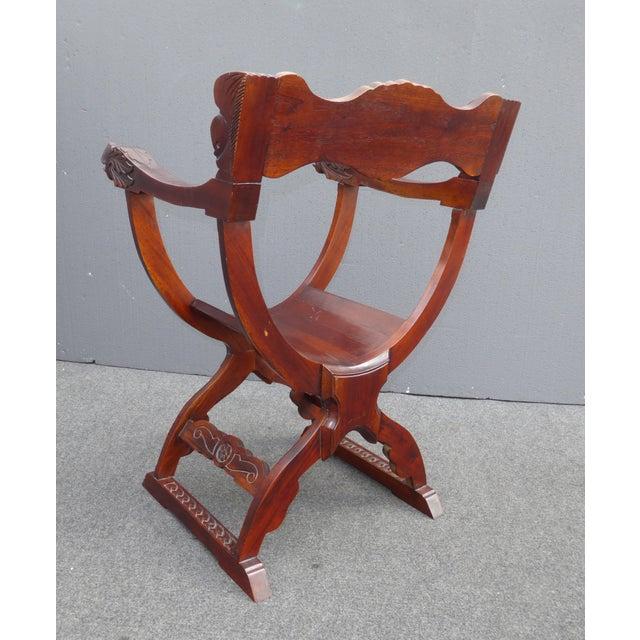 Vintage Asian Style Savonarola Chair - Image 10 of 11
