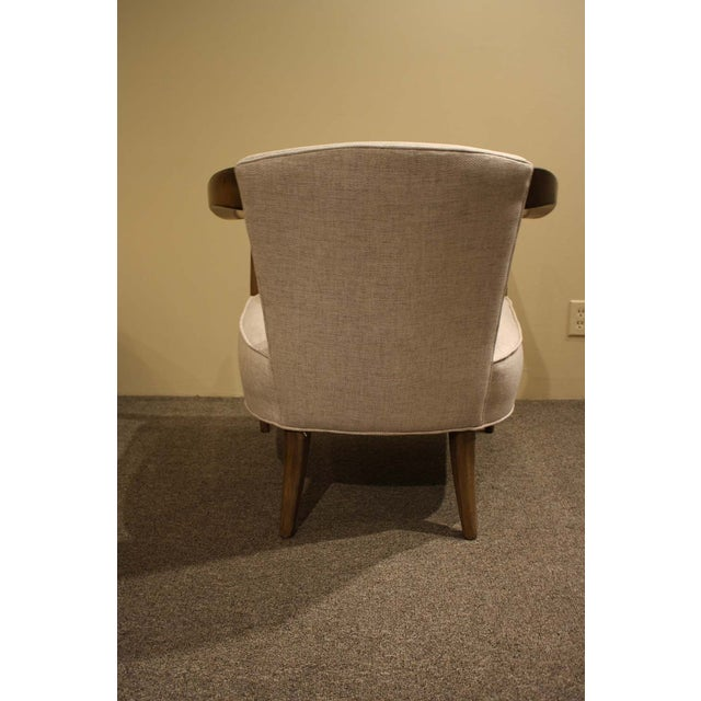 Image of Oatmeal Upholstered Horseshoe Armchair