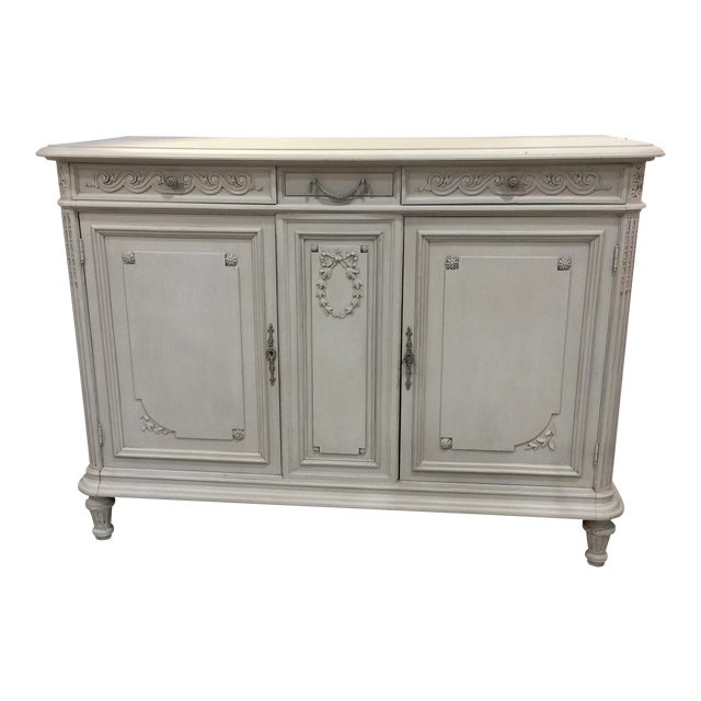 Painted Antique French Cabinet - Image 1 of 9