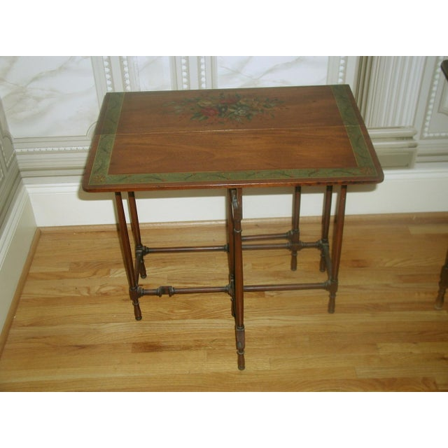 English 19th c gate leg side tables pair chairish for Table th width ignored