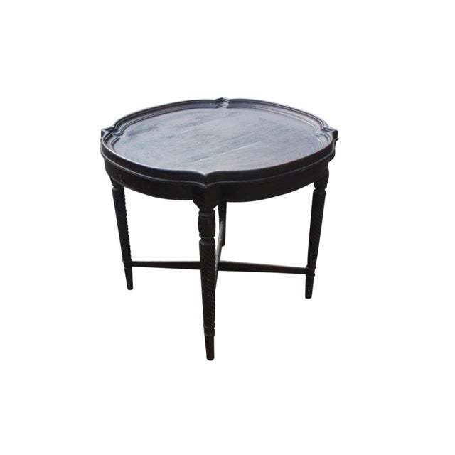 Image of Antique 1920s Round Barley Leg Side Table