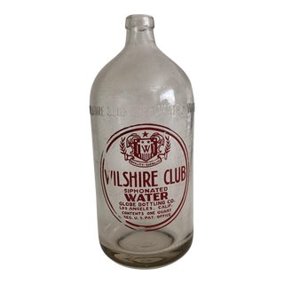 Wilshire Club Siphonated Water Seltzer Bottle