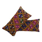 Image of Vintage Turkish Kilim Rug Pillow Covers- A Pair