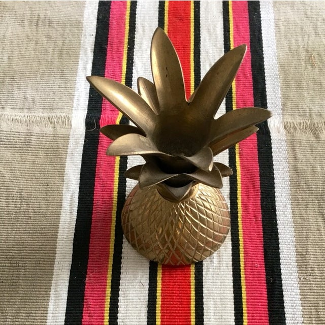 "7"" Brass Pineapple Container - Image 7 of 9"