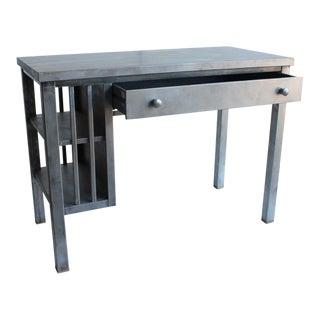 Mission style metal desk