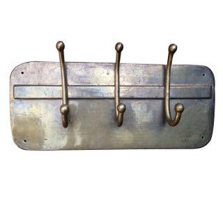 Vintage 'Rustic Farmhouse' Brass Wall Plate Hooks