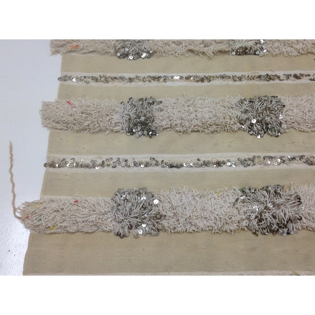 Moroccan Handira Wedding Blanket - Image 4 of 4
