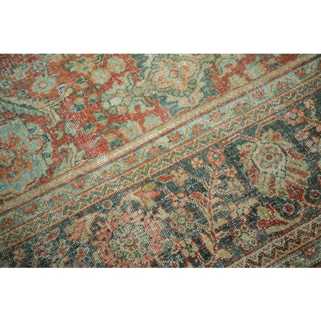 "Vintage Distressed Mahal Carpet - 10'8"" x 13'8"" - Image 4 of 10"