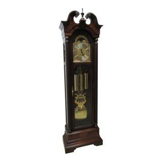 Cherry Flame Mahogany Broken Arch Grand Fathers Clock